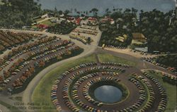 Parking Area at Florida's Cypress Gardens Postcard