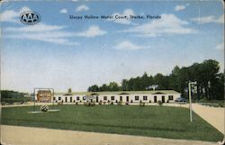 Sleepy Hollow Motor Court, Starke, Florida Postcard