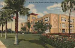 High School, Winter Haven, Fla. Postcard