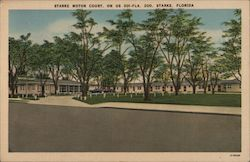 Starke Motor Court, on US 301-FLA. 200, Starke, Florida Postcard