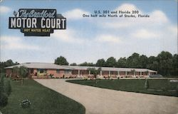 The Bradford Motor Court Postcard