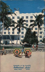 Oceanside at the beautiful Netherland Hotel. Miami Beach, Florida.