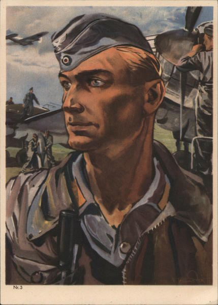 German Pilot, Flier, Airplane Nazi Germany