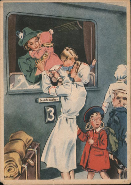 Propaganda, 'Women Are Working for You. Nurse Gives baby to Woman on Train
