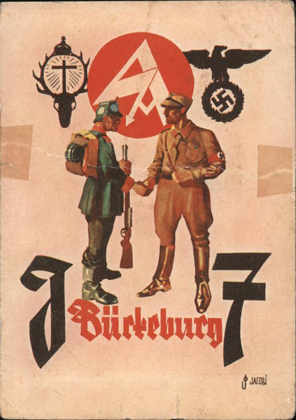 SA and Police Soldier, Unit 7, Bueckeburg, Lower Saxony, St. Hubert Cross (with Deer's head)