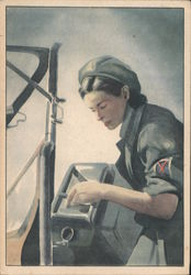 """Voluntary S.A.F."" Italian Woman, War Effort"