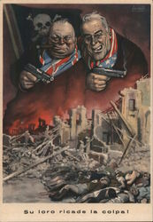 Chruchill & Roosevelt: The Blame Falls on Them! Italian Fascist Propoganda