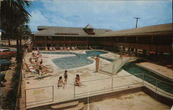Sun N Sand Hotel Court Biloxi Ms Postcard