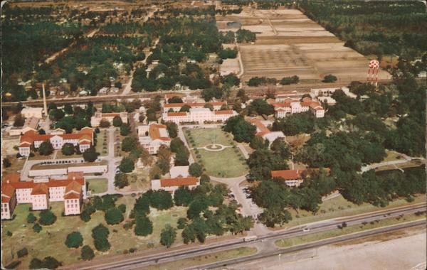 Aerial View of U.S. Veterans Hospital Gulfport Mississippi