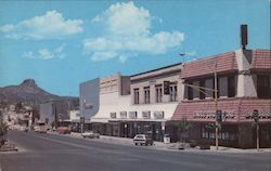 Looking West down Gurley Street Towards Thumb Butte Postcard