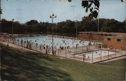 New Municipal Swimming Pool Postcard