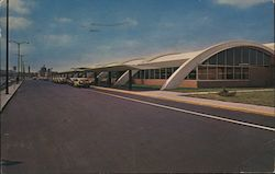 New North Terminal Building, Municipal Airport Postcard