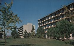 Malcolm and Ryerson Residence Halls, University of California Postcard