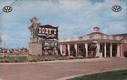 Doby's Hotel Court Postcard