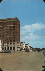 Broad Street, looking East - first National Bank Postcard