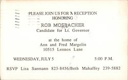 Rob Mosbacher, Candidate for Lieutenant Governor