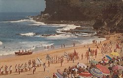 Pan Am Makes the Going Great - Avalon Beach Postcard