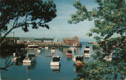 Picturesque View of Rockport Harbor Postcard