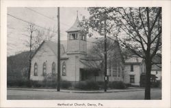 View of Methodist Church Postcard