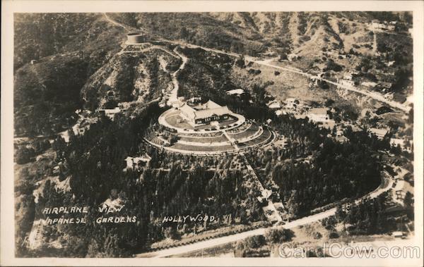 Airplane View of Bernheimer Japanese Gardens Hollywood California