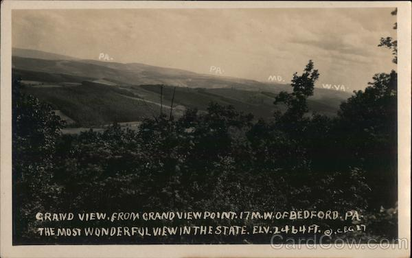 Grand View, from Grandview Point. Bedford Pennsylvania