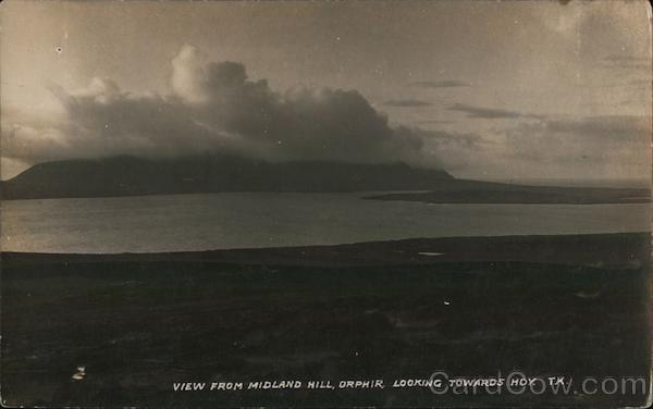 View from Midland Hill Looking Towards Hoy, Orkney Islands Orphir Scotland