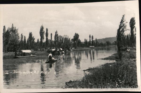Xochimilco Canals Mexico City DF