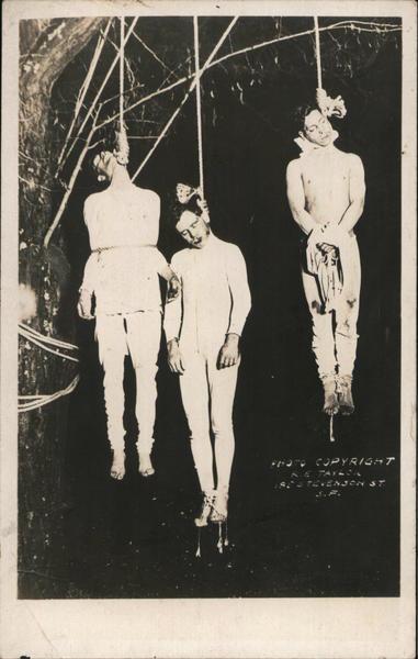 1910 Hanging of Boyd, Fitts and Valento Lynching Howard Street Gang Santa Rosa California