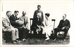 President Coolidge and Friends Postcard