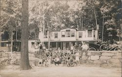 Large Group Posed at Beach, Camp Resort