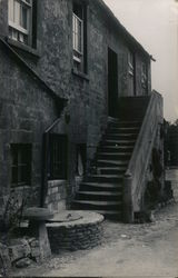 Stairway from Courtyard - Noel Arms Hotel Postcard