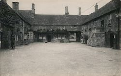 Courtyard of Noel Arms Hotel Postcard