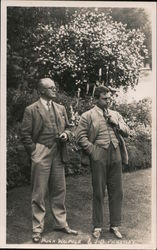 Sir Hugh Walpole and John Boynton Priestly Postcard