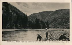 Great Hills Tower Over the Northeast Margaree River Postcard