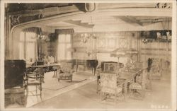 Reception Room, Sanitorium of The Christian Science Benevolent Association Postcard