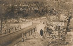 Cold River Bridge, Mohawk Trail. Postcard