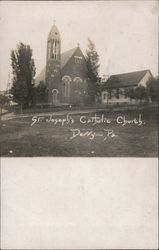 St. Joseph's Catholic Church In Derry, Pennsylvania Postcard