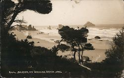 Scene at Bandon Beach Postcard