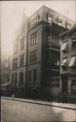 Street View of Residential Apartment Building Postcard