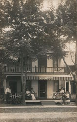 "People on Porch of ""Pennsylvania"" Building Postcard"