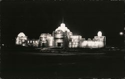 Ice Palace at Night - Winter Sports Carnival 1939 Postcard