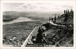 Wenatchea and Columbia River from Ohme Gardens Postcard
