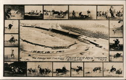 Frontier Days - Rodeo Scenes Multiview Postcard