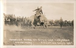 Ambrose Ross on Snow Cap Cheyenne (Doubleday), Frontier Days 1927