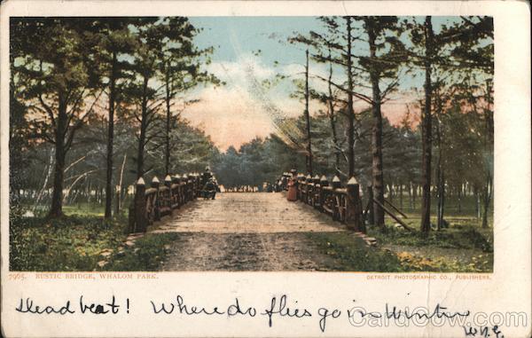Rustic Bridge, Whalom Park Lunenburg Massachusetts