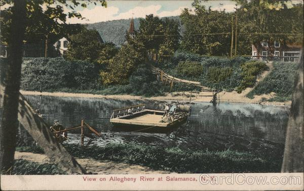 View on Allegheny River Salamanca New York