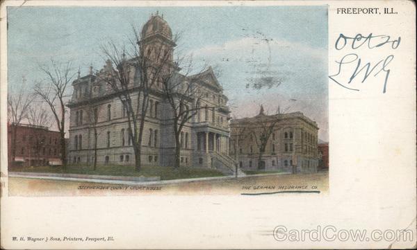 Stevenson County Court House & The Berman Insurance Co. Freeport Illinois