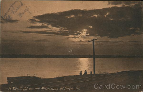 A Moonlight on the Mississippi Alton Illinois