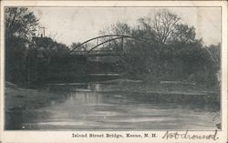 Island Street Bridge Postcard