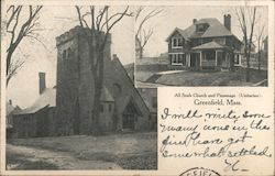 All Souls Church and Parsonage (Unitarian) Postcard